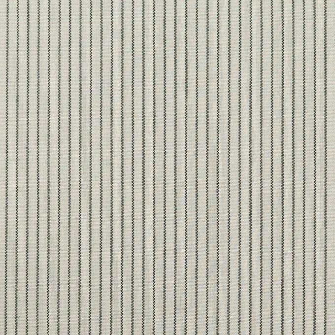 コットン&ポリウレタン×ストライプ(モスグレー)×ポプリンストレッチ イメージ1