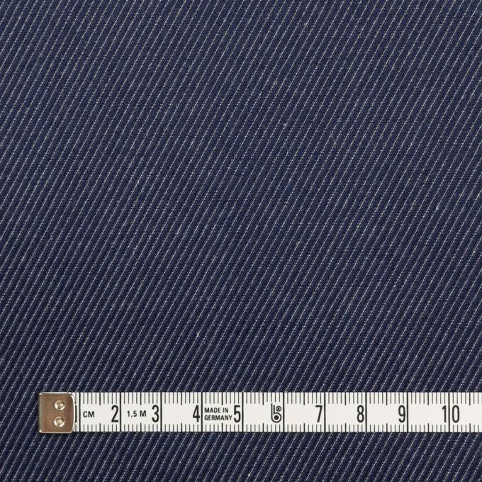 コットン&リネン×無地(ネイビー)×かわり織 イメージ4