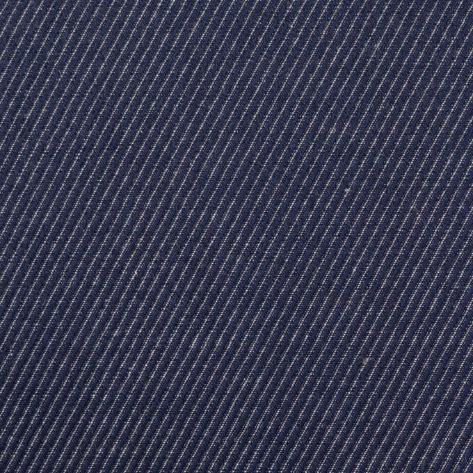 コットン&リネン×無地(ネイビー)×かわり織 イメージ1