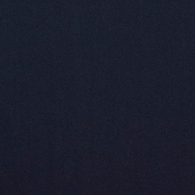 コットン&ポリエステル混×無地(ダークネイビー)×ローンストレッチ イメージ1