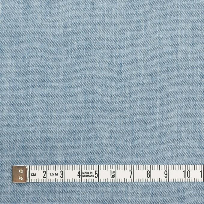 コットン×無地(サックスブルー)×セルビッチ・デニム(5.5oz) イメージ4