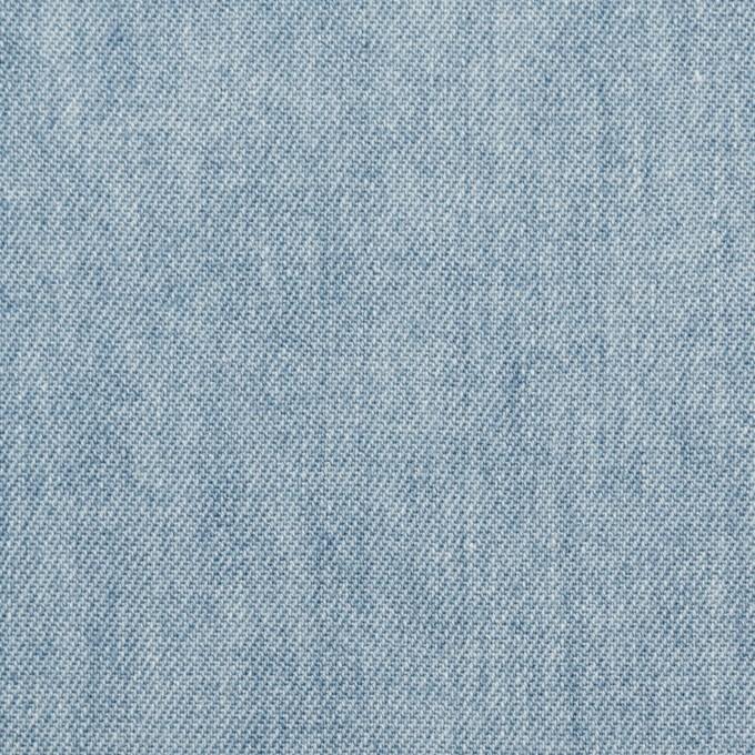 コットン×無地(サックスブルー)×セルビッチ・デニム(5.5oz) イメージ1