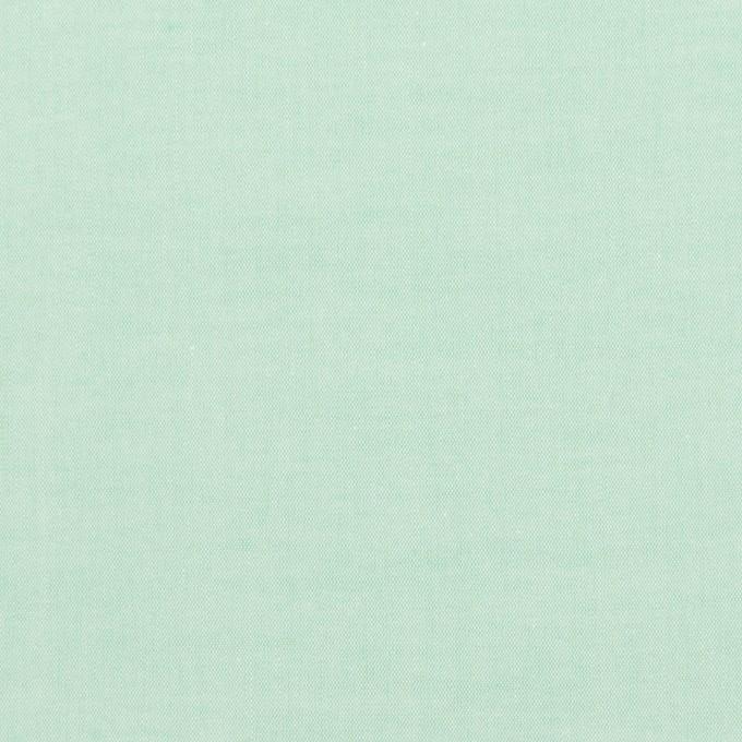 コットン×無地(ミントグリーン)×ローンシャンブレー_全7色 イメージ1