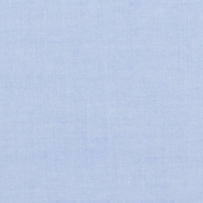 コットン×無地(ブルー)×ローンシャンブレー_全7色 イメージ1