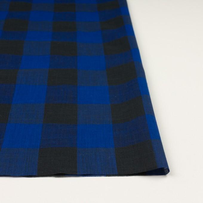 コットン&リネン×チェック(マリンブルー&ブラック)×スラブボイル イメージ3