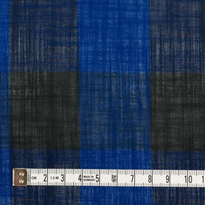 コットン&リネン×チェック(マリンブルー&ブラック)×スラブボイル イメージ4