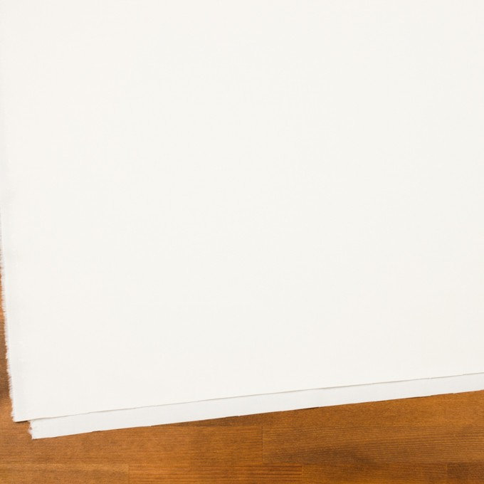 コットン&ウール混×無地(ミルキーホワイト)×サージストレッチ_全3色_イタリア製 イメージ2