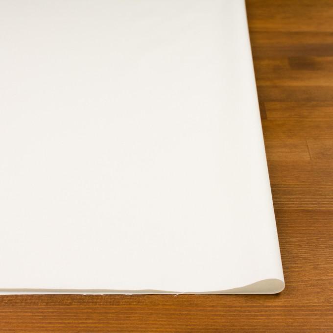 コットン&ウール混×無地(ミルキーホワイト)×サージストレッチ_全3色_イタリア製 イメージ3