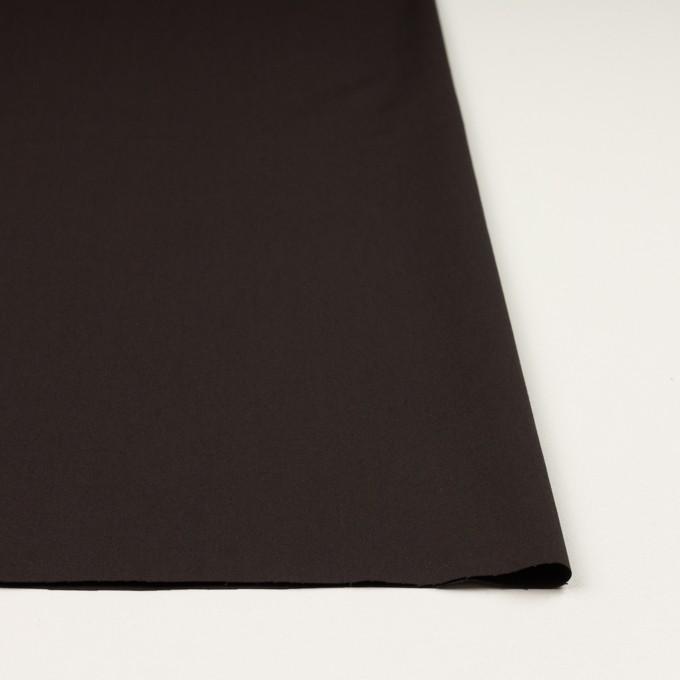 コットン&ウール混×無地(ダークブラウン)×サージストレッチ_全3色_イタリア製 イメージ3