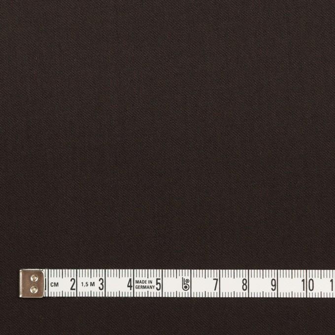 コットン&ウール混×無地(ダークブラウン)×サージストレッチ_全3色_イタリア製 イメージ4