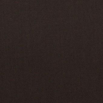 コットン&ウール混×無地(ダークブラウン)×サージストレッチ_全3色_イタリア製