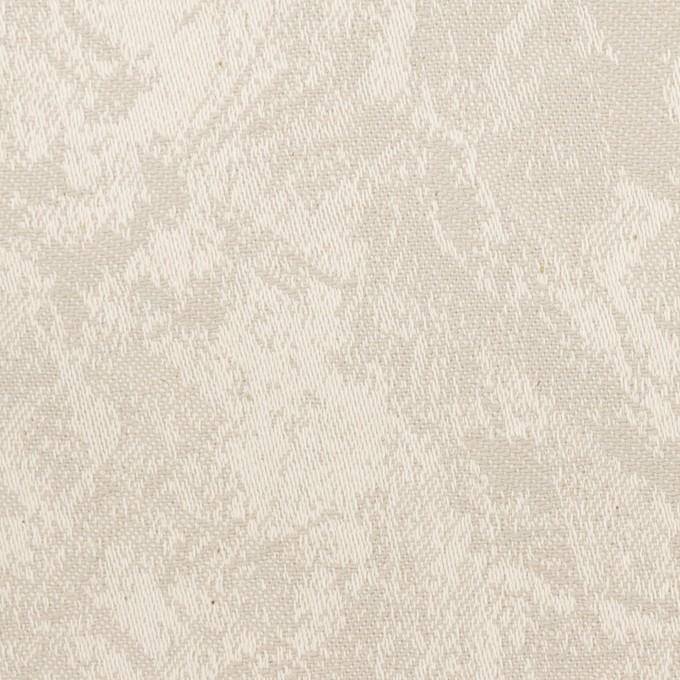 コットン&ポリウレタン×幾何学模様(グレイッシュベージュ)×ジャガード・ストレッチ イメージ1