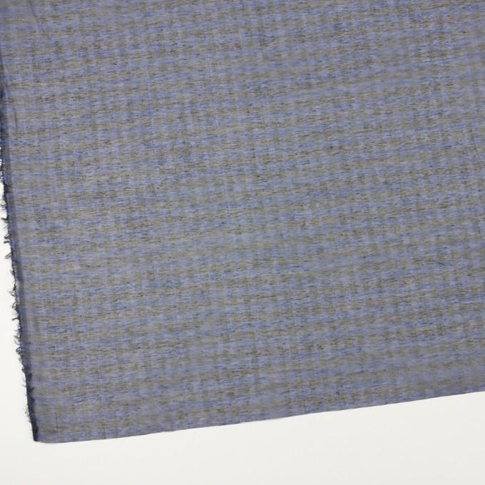 コットン&シルク×チェック(ネイビー&ブラック)×オーガンジー イメージ2