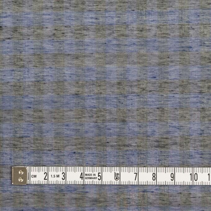コットン&シルク×チェック(ネイビー&ブラック)×オーガンジー イメージ4