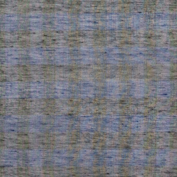 コットン&シルク×チェック(ネイビー&ブラック)×オーガンジー イメージ1