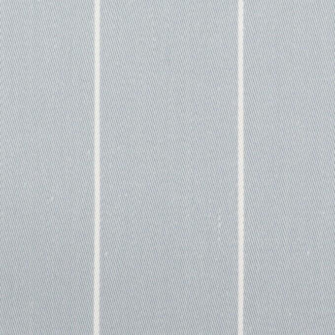 コットン×ストライプ(ブルーグレー)×サージ イメージ1