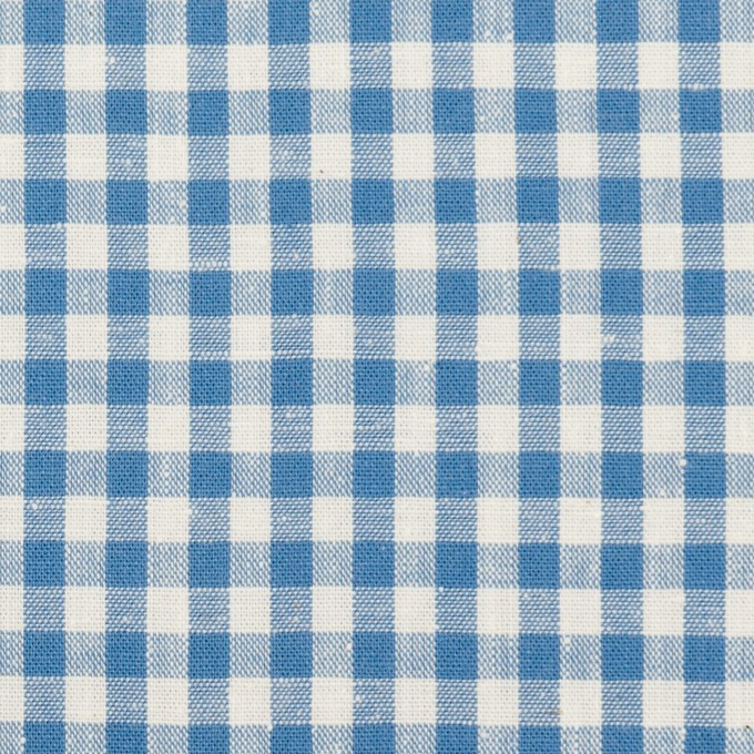 コットン×チェック(チョークブルー)×シーチング_全3色 イメージ1