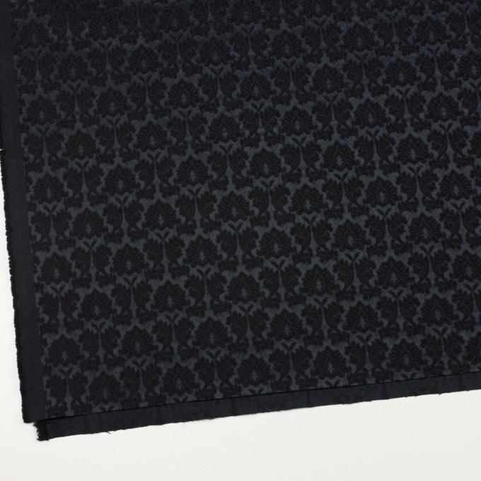 コットン&ポリエステル×幾何学模様(ブラック)×サテンジャガード_全4色 イメージ2