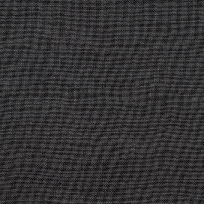 リネン×無地(チャコール)×薄キャンバス_全25色 イメージ1