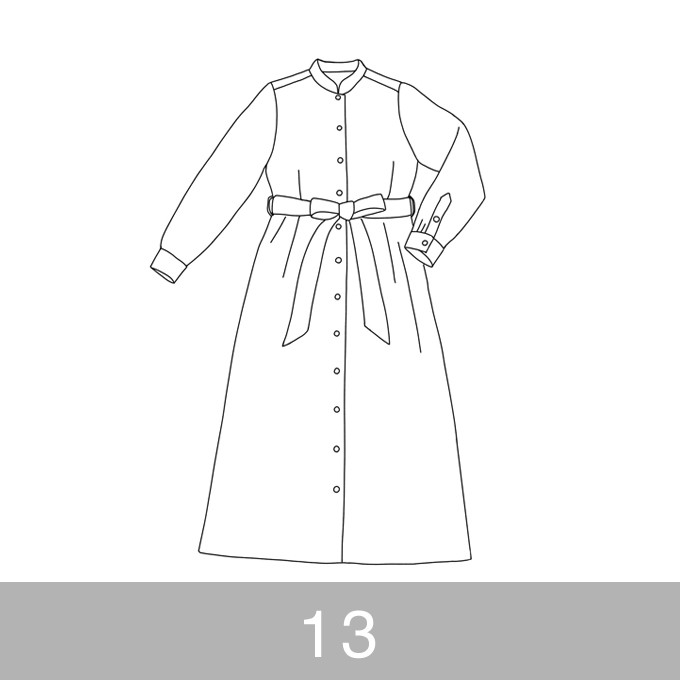 オリジナルパターン#015_ロングシャツワンピース_13号 イメージ1