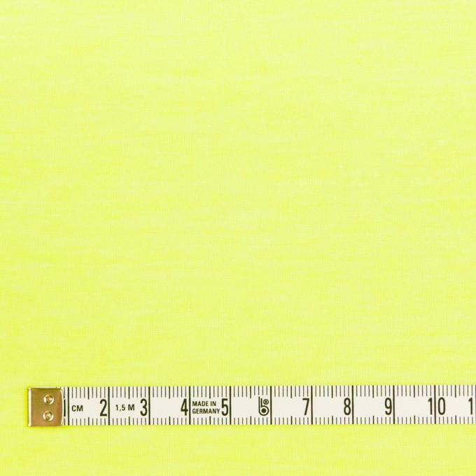 コットン&ポリエステル×無地(ネオンイエロー)×天竺ニット イメージ4