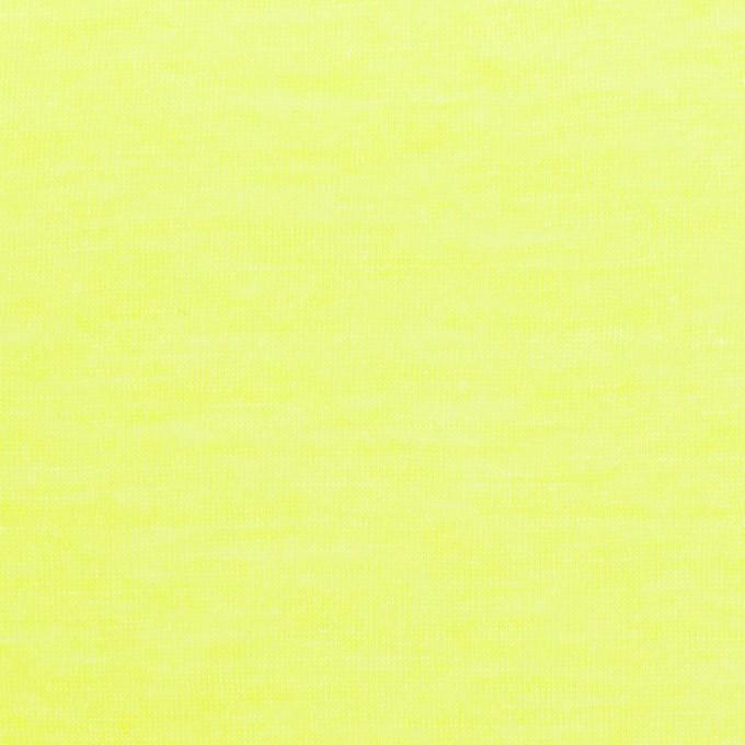 コットン&ポリエステル×無地(ネオンイエロー)×天竺ニット イメージ1