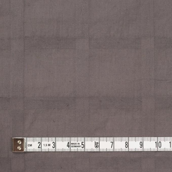 コットン×チェック(アッシュブラウン)×ローンジャガード イメージ4