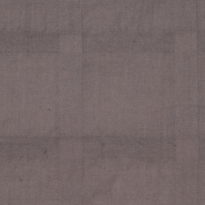 コットン×チェック(アッシュブラウン)×ローンジャガード イメージ1