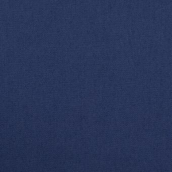 コットン&ポリウレタン×無地(マリンブルー)×ギャバジン・ストレッチ_全2色_イタリア製