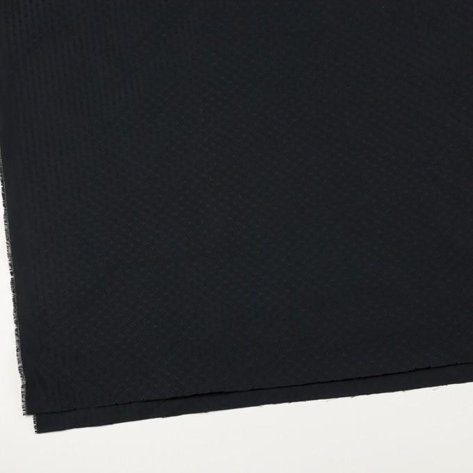 ポリエステル×小紋(ブラック)×形状記憶タフタドビー イメージ2