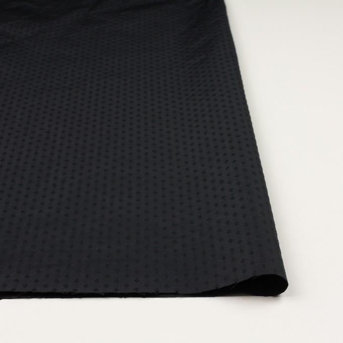 ポリエステル×小紋(ブラック)×形状記憶タフタドビー イメージ3