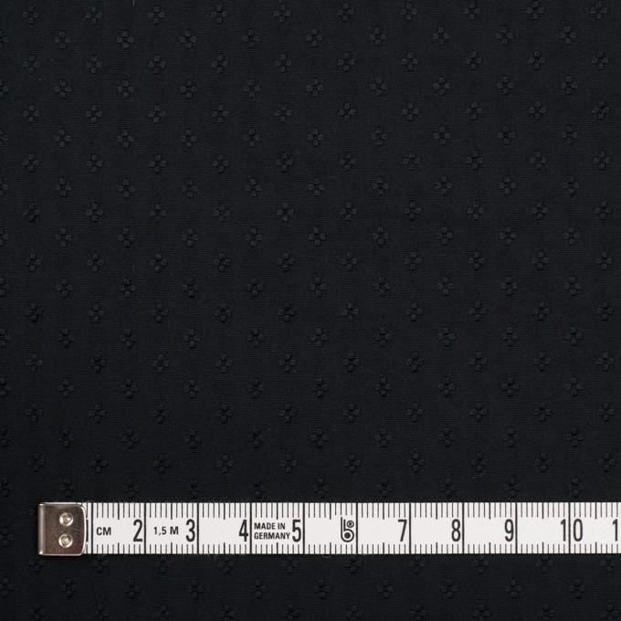 ポリエステル×小紋(ブラック)×形状記憶タフタドビー イメージ4