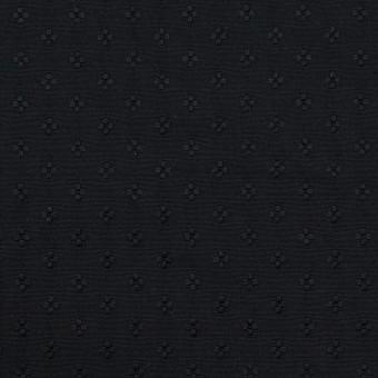 ポリエステル×小紋(ブラック)×形状記憶タフタドビー
