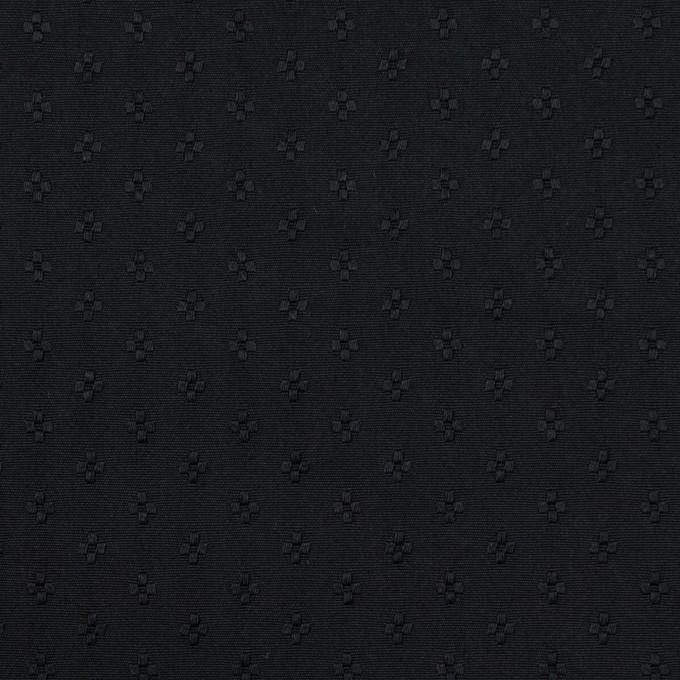 ポリエステル×小紋(ブラック)×形状記憶タフタドビー イメージ1