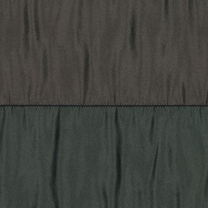 ポリエステル×ボーダー(グリーン、ブラウン&ブラック)×タフタシャーリング イメージ1