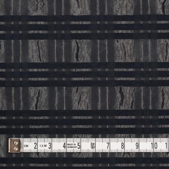 ポリエステル&ナイロン×ボーダー(メタル&ブラック)×タフタジャガード イメージ4