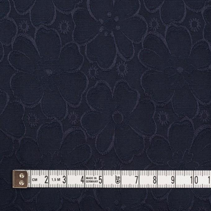 コットン&ポリエステル×フラワー(ネイビー)×シャンタン・ジャガード イメージ4