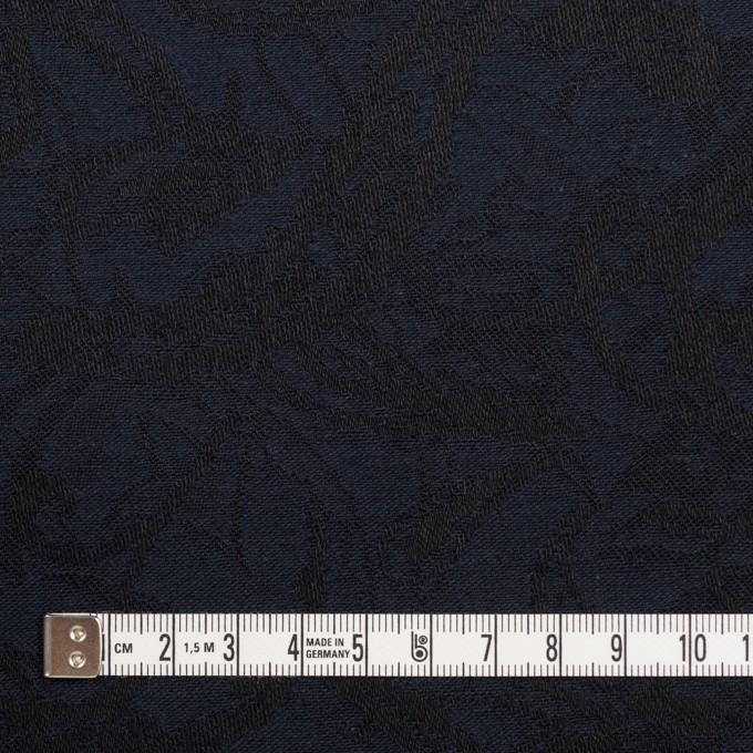 コットン&ポリウレタン×幾何学模様(ネイビー&ブラック)×ジャガード・ストレッチ イメージ4