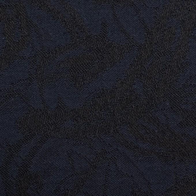 コットン&ポリウレタン×幾何学模様(ネイビー&ブラック)×ジャガード・ストレッチ イメージ1