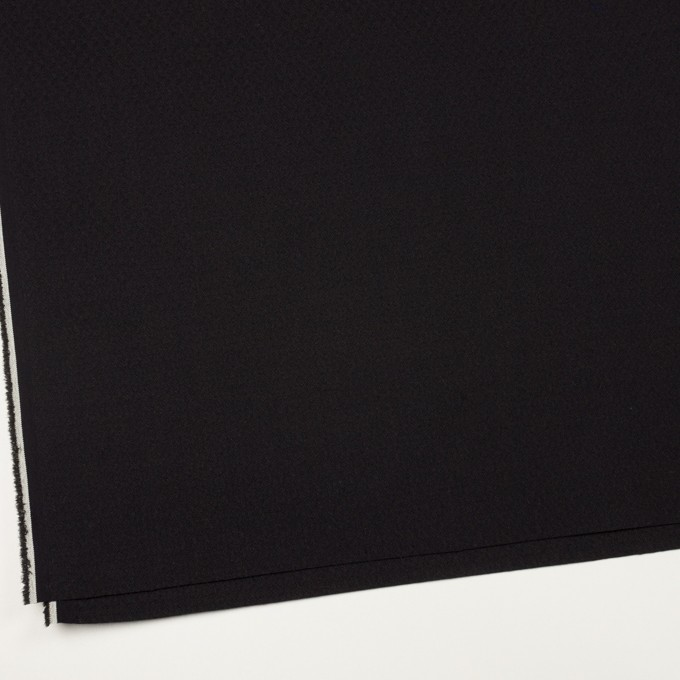 コットン&ポリエステル混×無地(ブラック)×ジャガード・ストレッチ イメージ2