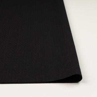 コットン&ポリエステル混×無地(ブラック)×ジャガード・ストレッチ サムネイル3