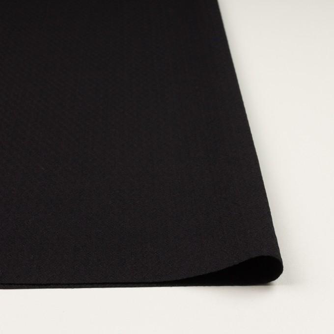 コットン&ポリエステル混×無地(ブラック)×ジャガード・ストレッチ イメージ3
