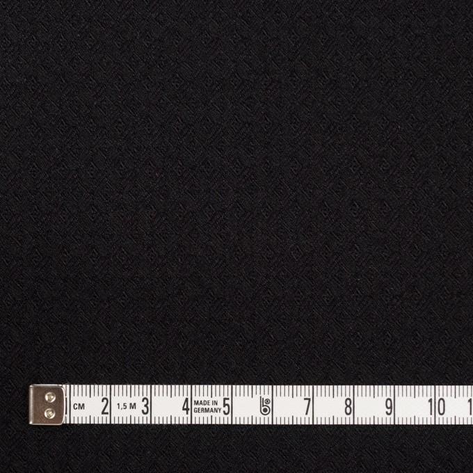 コットン&ポリエステル混×無地(ブラック)×ジャガード・ストレッチ イメージ4