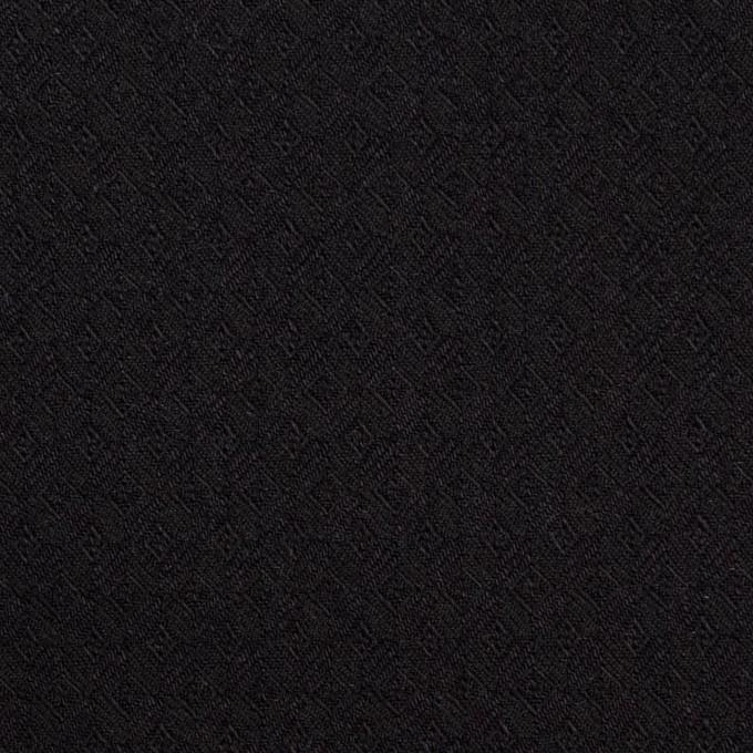 コットン&ポリエステル混×無地(ブラック)×ジャガード・ストレッチ イメージ1