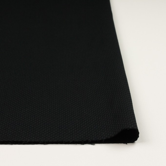 コットン×無地(ブラック)×刺し子 イメージ3