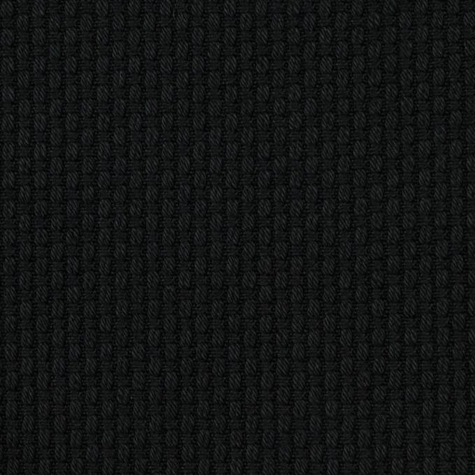 コットン×無地(ブラック)×刺し子 イメージ1