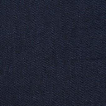 コットン&ポリウレタン×無地(ダークネイビー)×ヘリンボーン・シャーリング_全2色