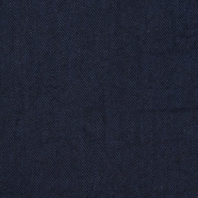 コットン&ポリウレタン×無地(ダークネイビー)×ヘリンボーン・シャーリング_全2色 イメージ1