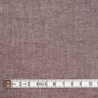 コットン&ポリウレタン×ミックス(エンジ)×ヘリンボーン・シャーリング_全3色 サムネイル4