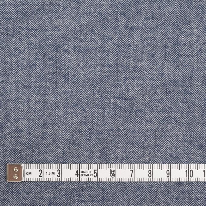 コットン&ポリウレタン×ミックス(ネイビー)×ヘリンボーン・シャーリング_全3色 イメージ4